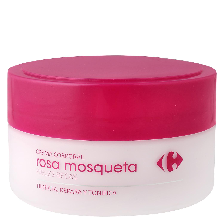 Crema corporal Rosa Mosqueta pieles secas Carrefour 200 ml.