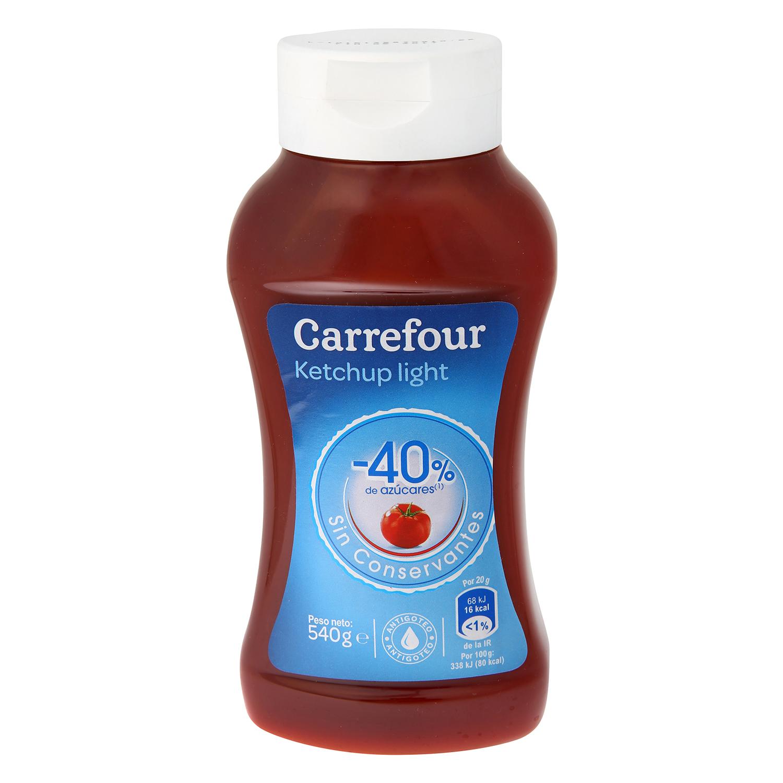 Ketchup light Carrefour 540 g.