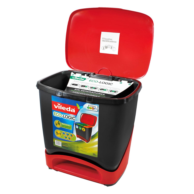 Cubo basura especial reciclaje 39 litros vileda - Cubos de basura industriales ...