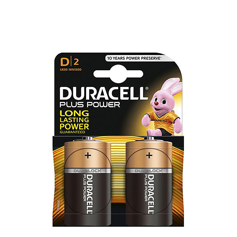Pack de 2 Pilas Alcalinas Uso Frecuente Duracell Lr20 (D) Plus
