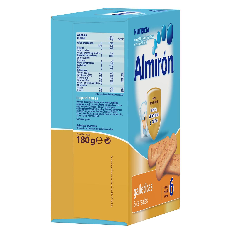 Galletitas de 6 cereales Almirón 180 g. - 3