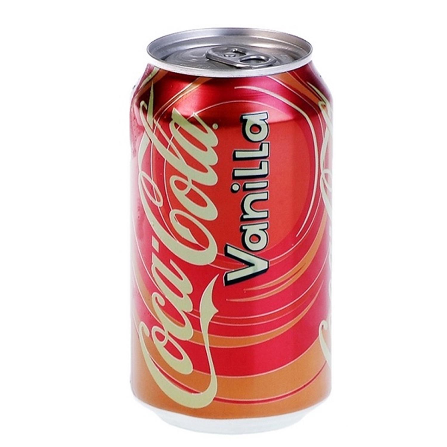 Refresco de cola Coca Cola sabor vanilla lata 35,5 cl.