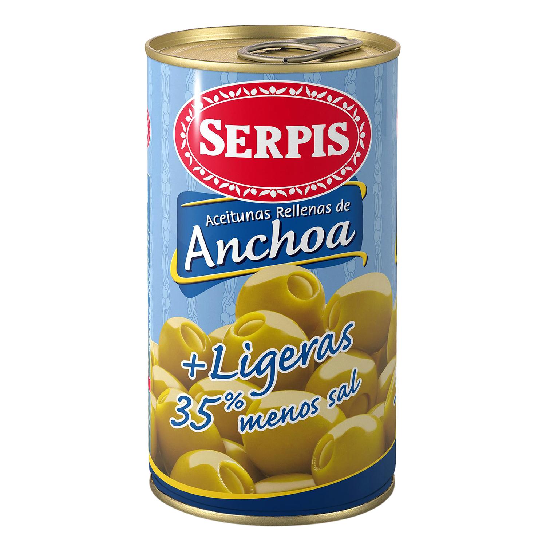 Aceitunas rellenas de anchoa ligeras