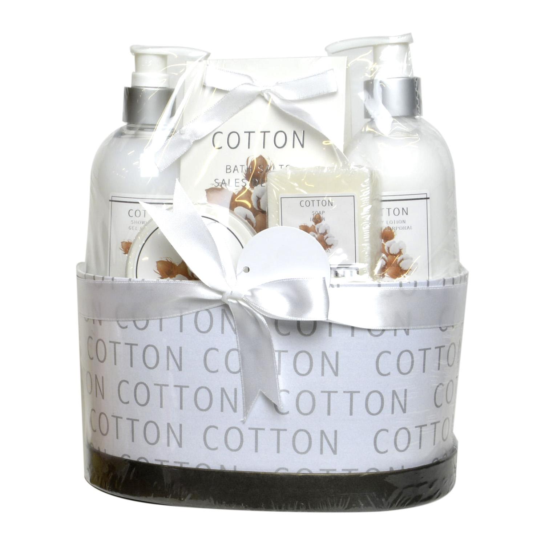 Cesta de baño con gel + loción + exfoliante + sales + jabón