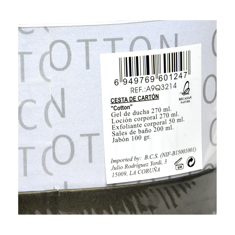 Cesta de baño con gel + loción + exfoliante + sales + jabón -