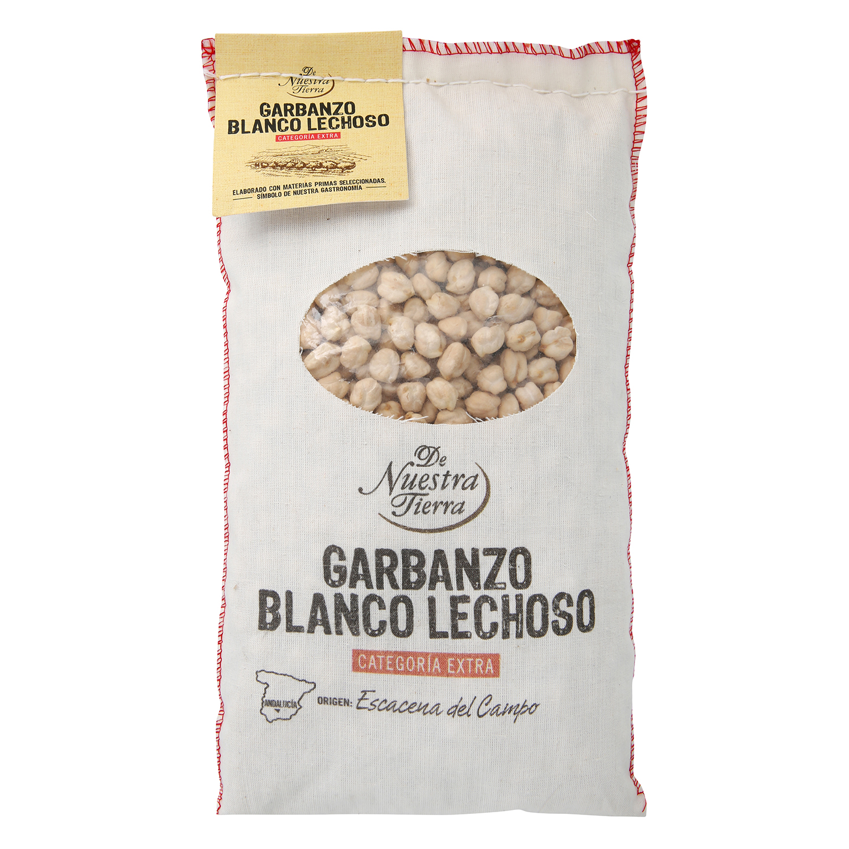 Garbanzo blanco lechoso De Nuestra Tierra categoría extra 1 kg.