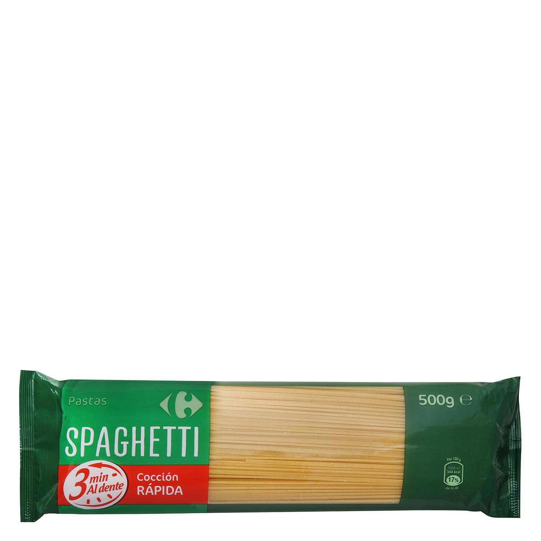Espaguetis cocción rápida Carrefour 500 g.