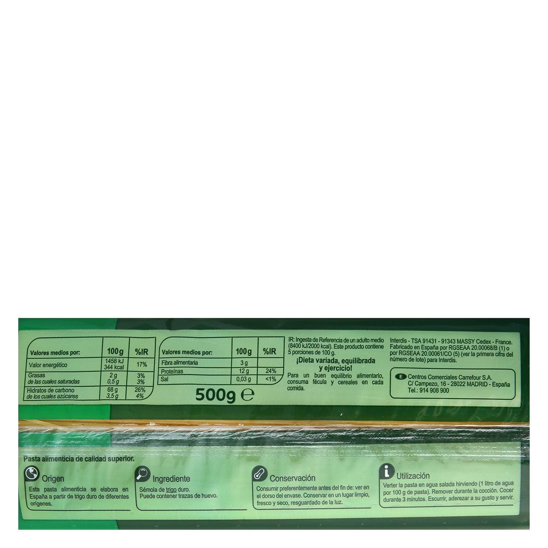 Espaguetis cocción rápida Carrefour 500 g. - 2