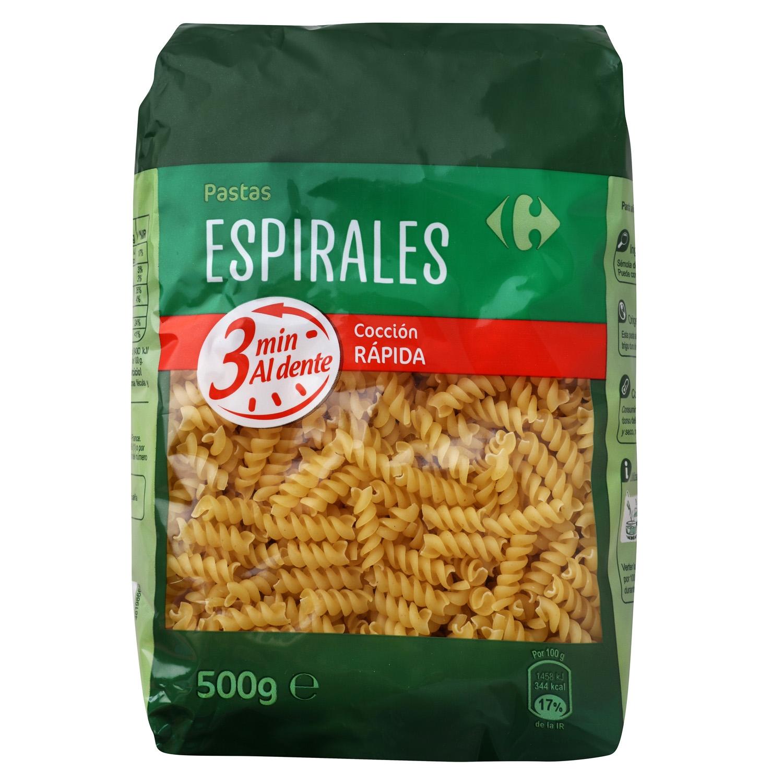 Espirales Carrefour cocción rápida 500 g.