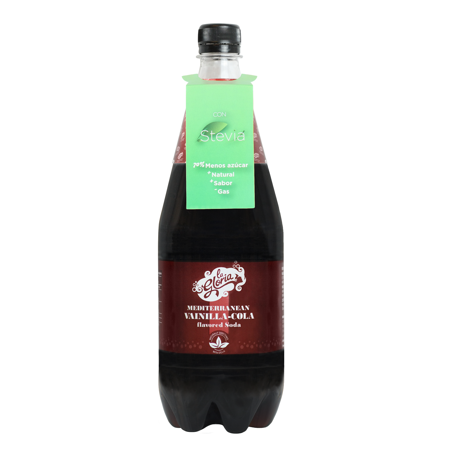 Refresco de cola La Gloria con Stevia botella 1 l.