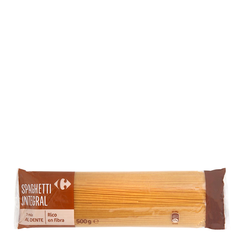 Espaguetis integrales Carrefour 500 g.