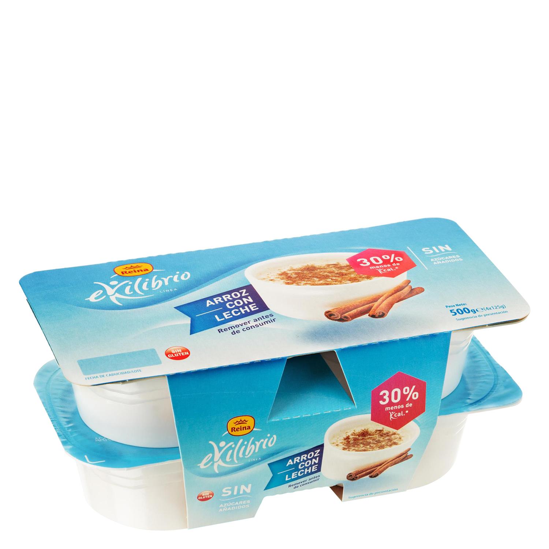 Arroz con leche Reina sin gluten pack de 4 unidades de 125 g.