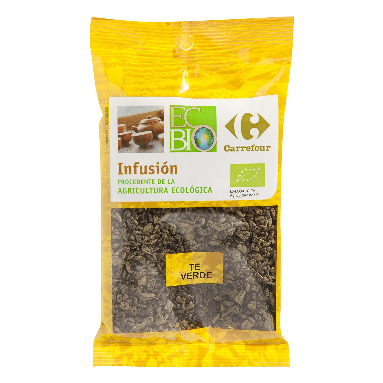 Té verde ecológico Carrefour Bio 80 g.
