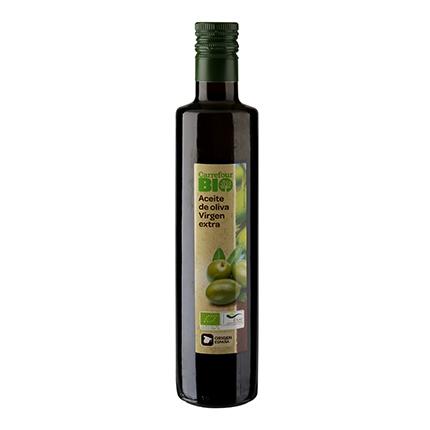 Aceite de oliva virgen extra ecológico Carrefour Bio 500 ml.