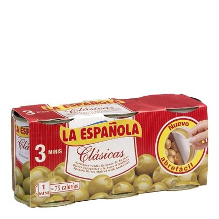 Aceitunas verdes rellenas de anchoa La Española 150 g.