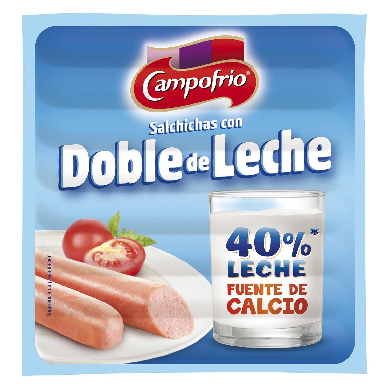 Salchichas con doble de leche Campofrío 140 g.