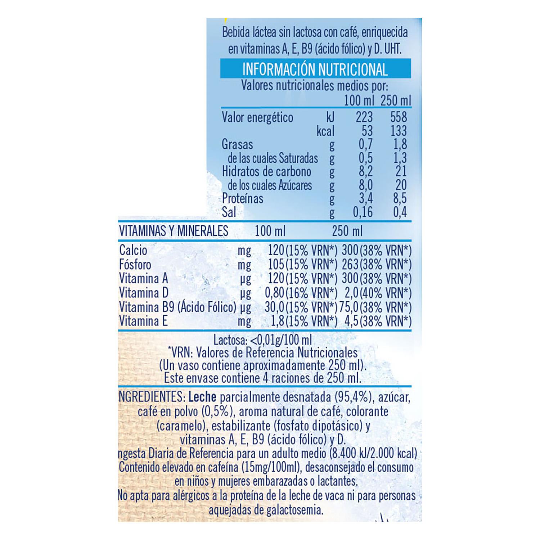 Café con leche Puleva sin lactosa 1 l. -