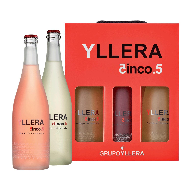 LOTE 96: 2 botellas Frizzante Yllera 5.5 blanco 75 cl. + 1 botella frizzante Yllera 5.5 rosé 75 cl.