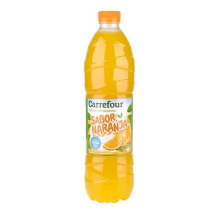 Refresco de naranja Carrefour sin gas botella 1,5 l.