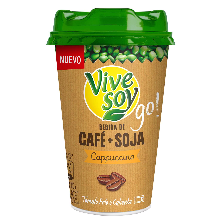 Café + soja cappuccino ViveSoy 200 ml.