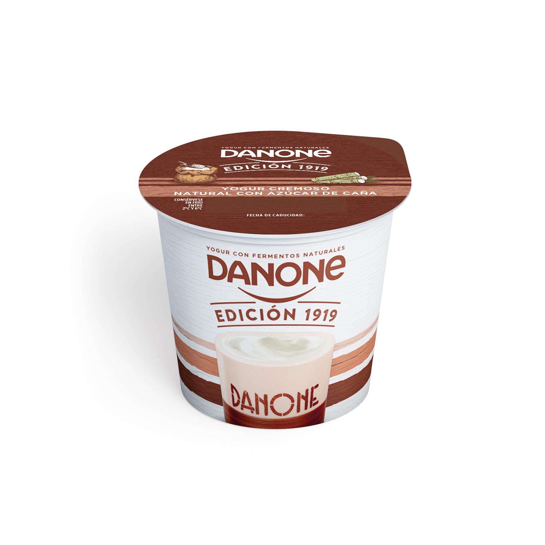 Yogur cremoso con azúcar de caña natural Danone pack de 4 unidades de 120 g. - 2
