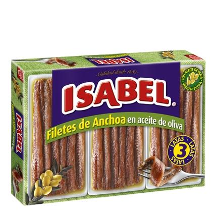 Filetes de anchoa en aceite de oliva Isabel 150 g.