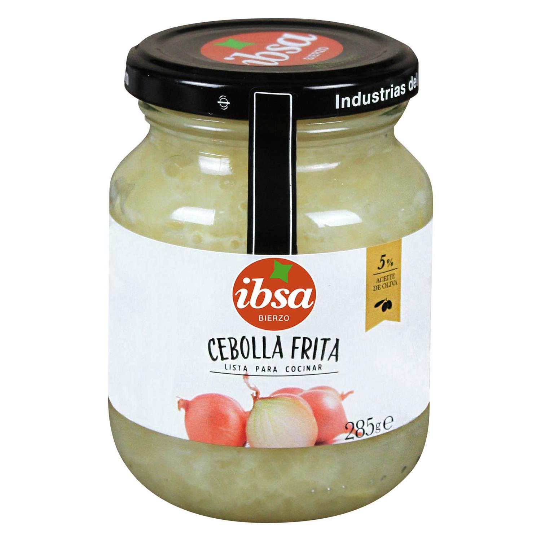Cebolla frita en aceite de oliva Ibsa 280 g.