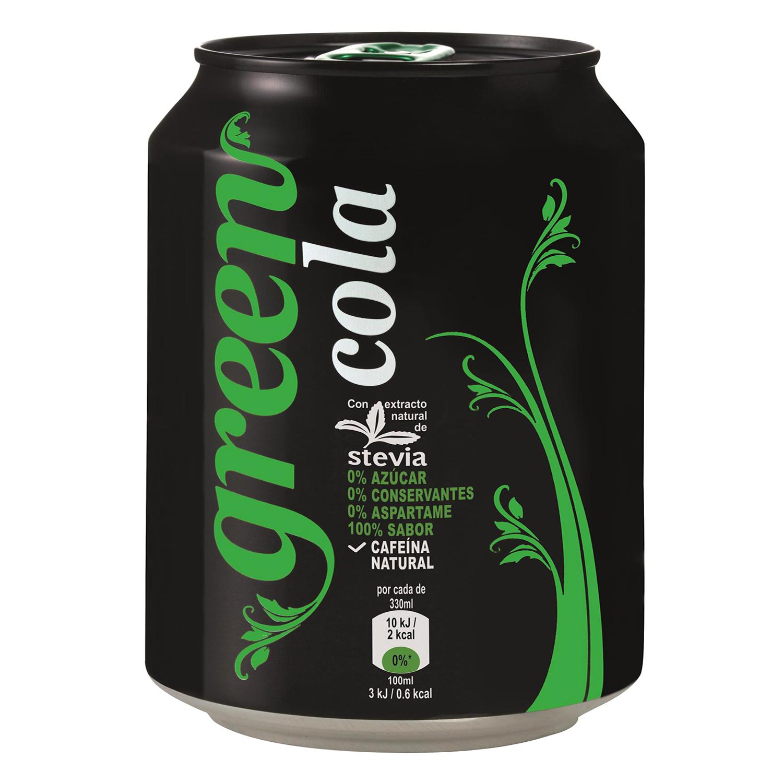Refresco de cola Green Cola lata 33 cl.