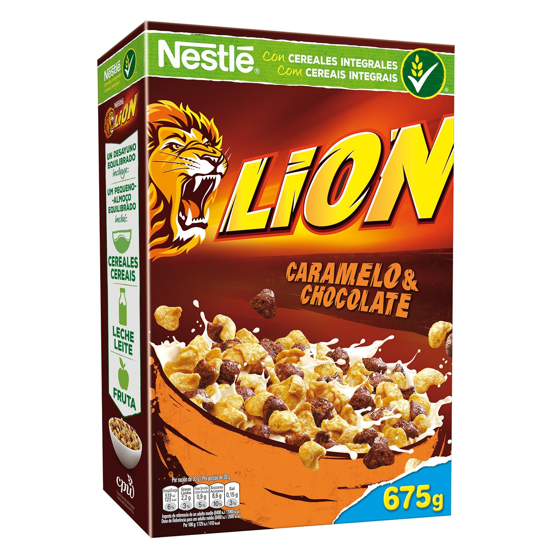 Cereales con chocolate y caramelo Lion Nestlé - Carrefour ...