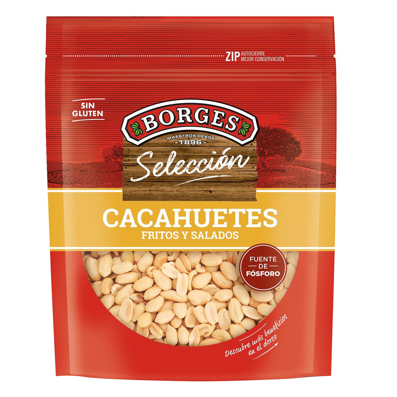 Cacahuetes fritos y salados Borges sin gluten 200 g.