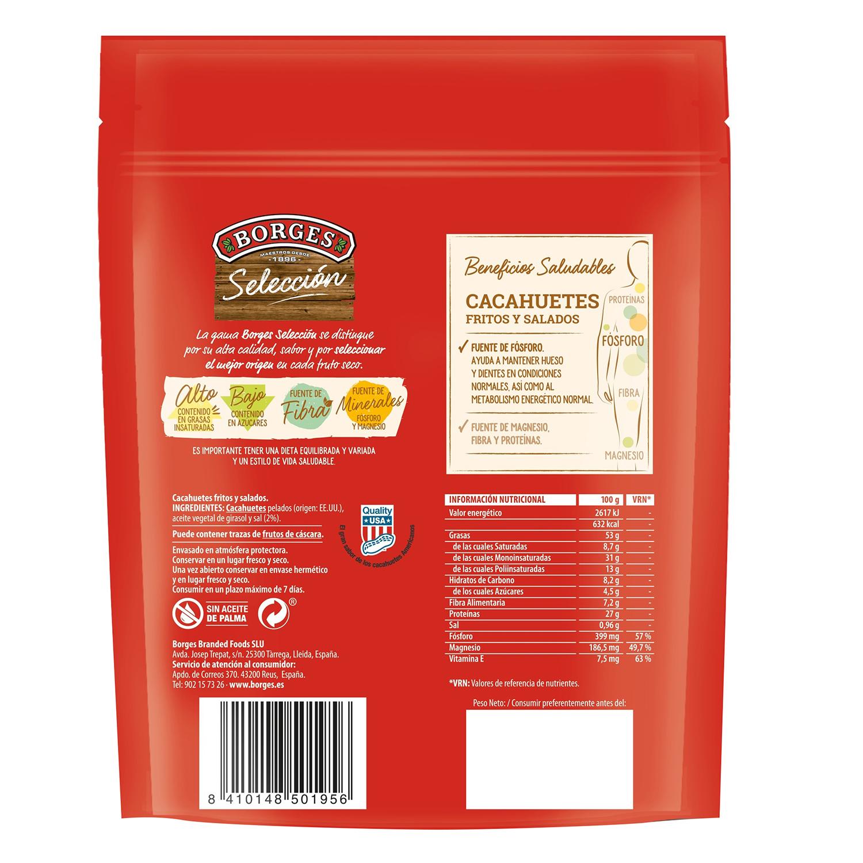 Cacahuetes fritos y salados Borges sin gluten 200 g. -