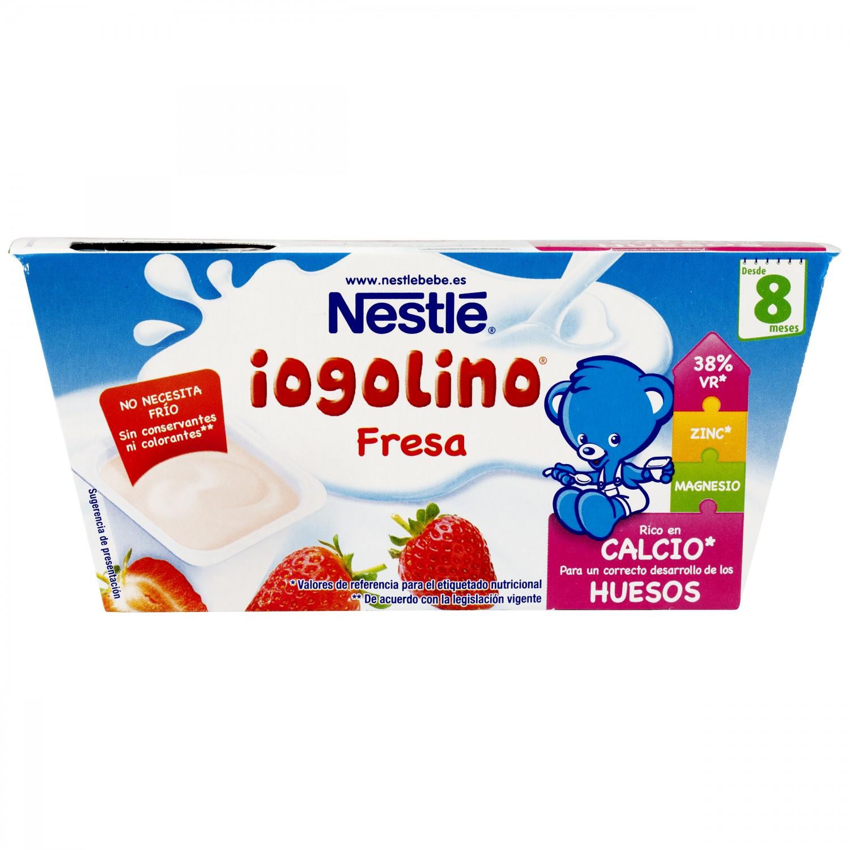 Postre lácteo de fresa desde 8 meses Nestlé Yogolino sin gluten pack de 4 unidades de 100 g. - 5