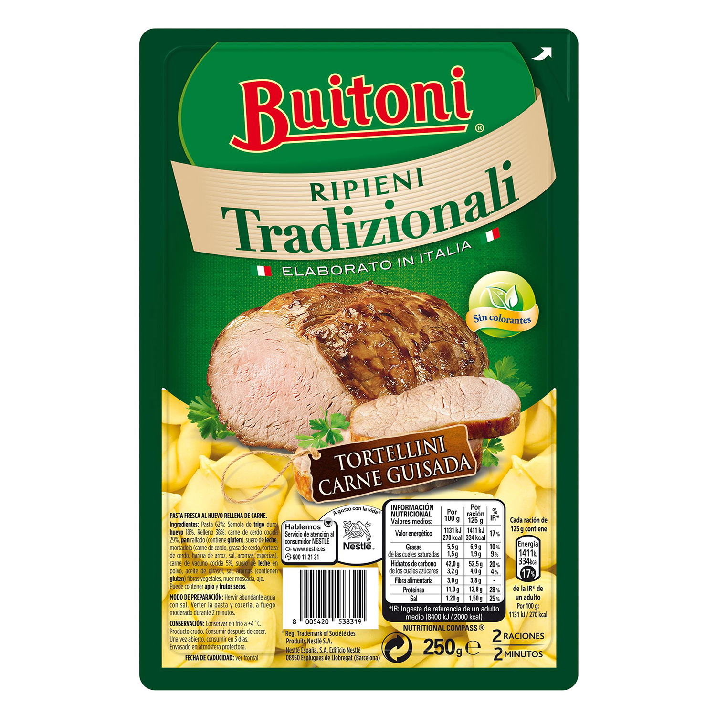 Tortellini de carne guisada Buitoni al huevo 250 g.
