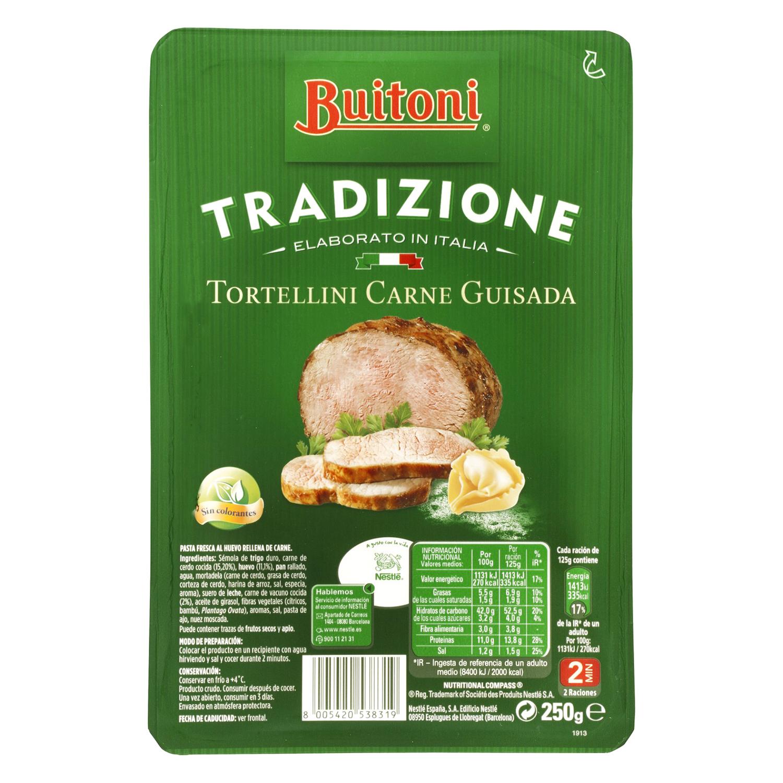 Tortellini de carne guisada Buitoni al huevo 250 g. - 2