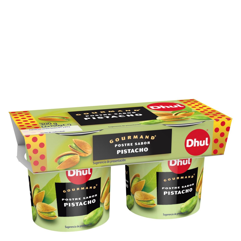 Postre sabor pistacho Dhul Gourmand pack de 2 unidades de 150 g.
