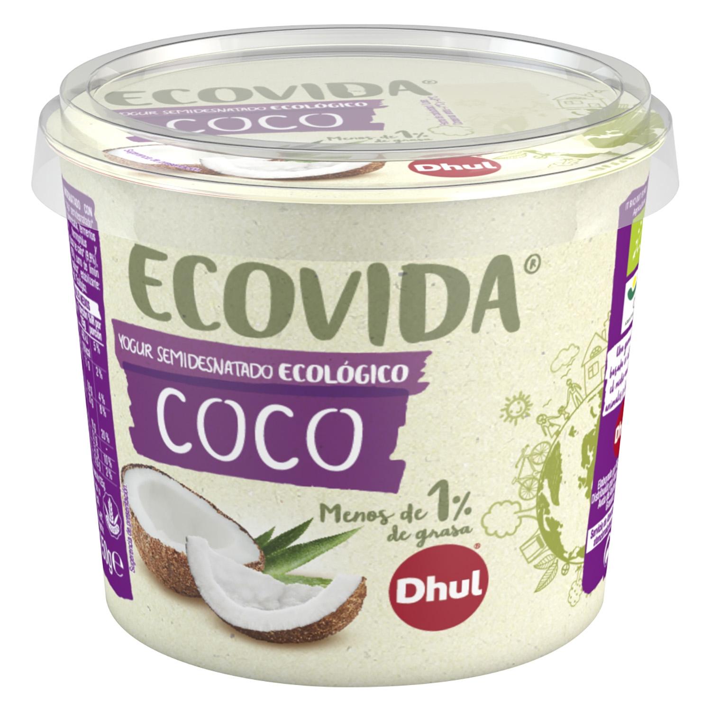 Yogur ecovida semidesnatado ecológico de coco