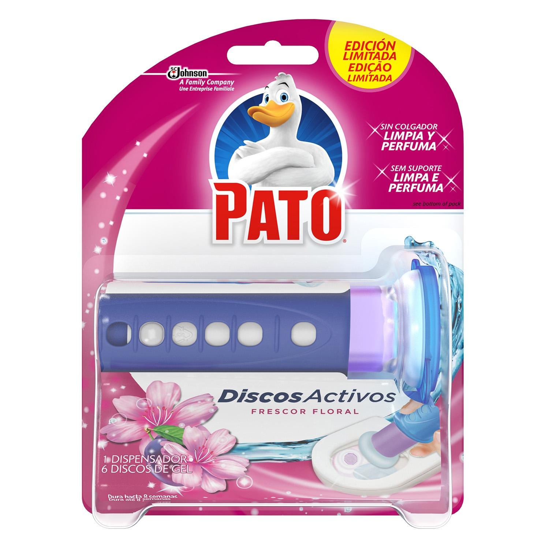 Discos activos inodoros frescor floral aparato + recambio Pato 1 ud.