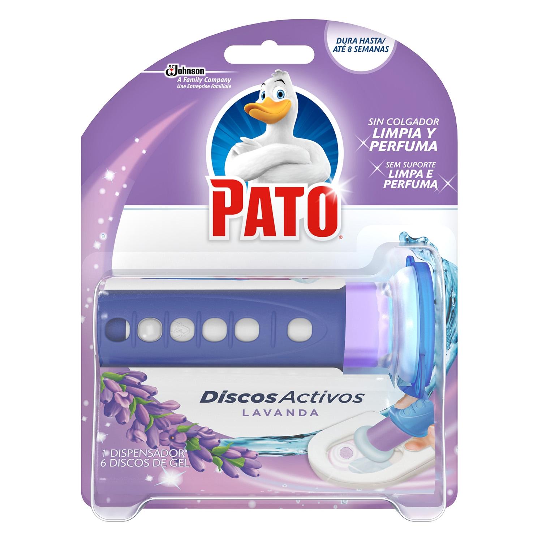 Discos activos inodoros aroma lavanda aparato + recambio Pato 1 ud.
