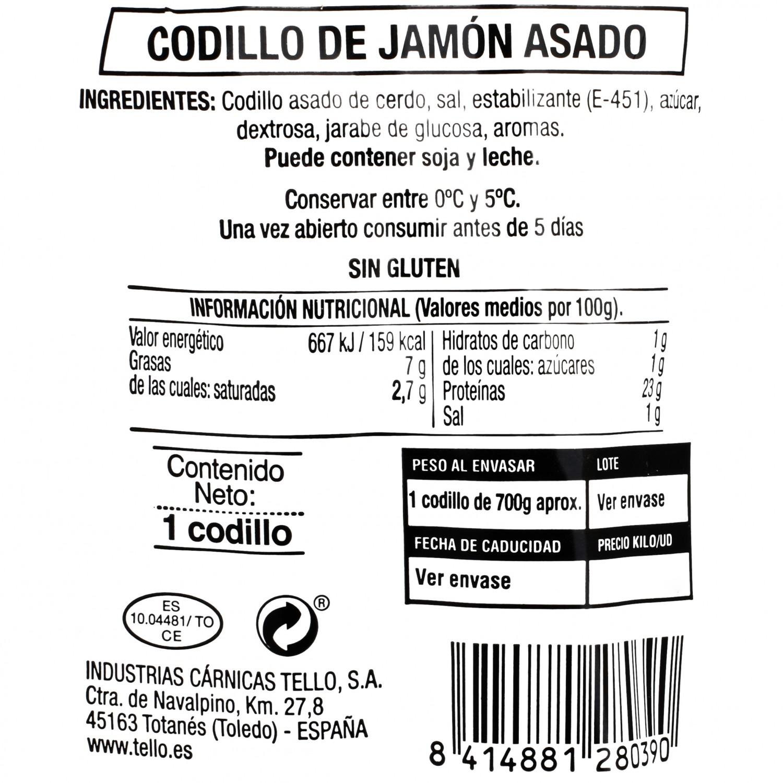 Codillo de jamón asado Tello 1 kg - 3