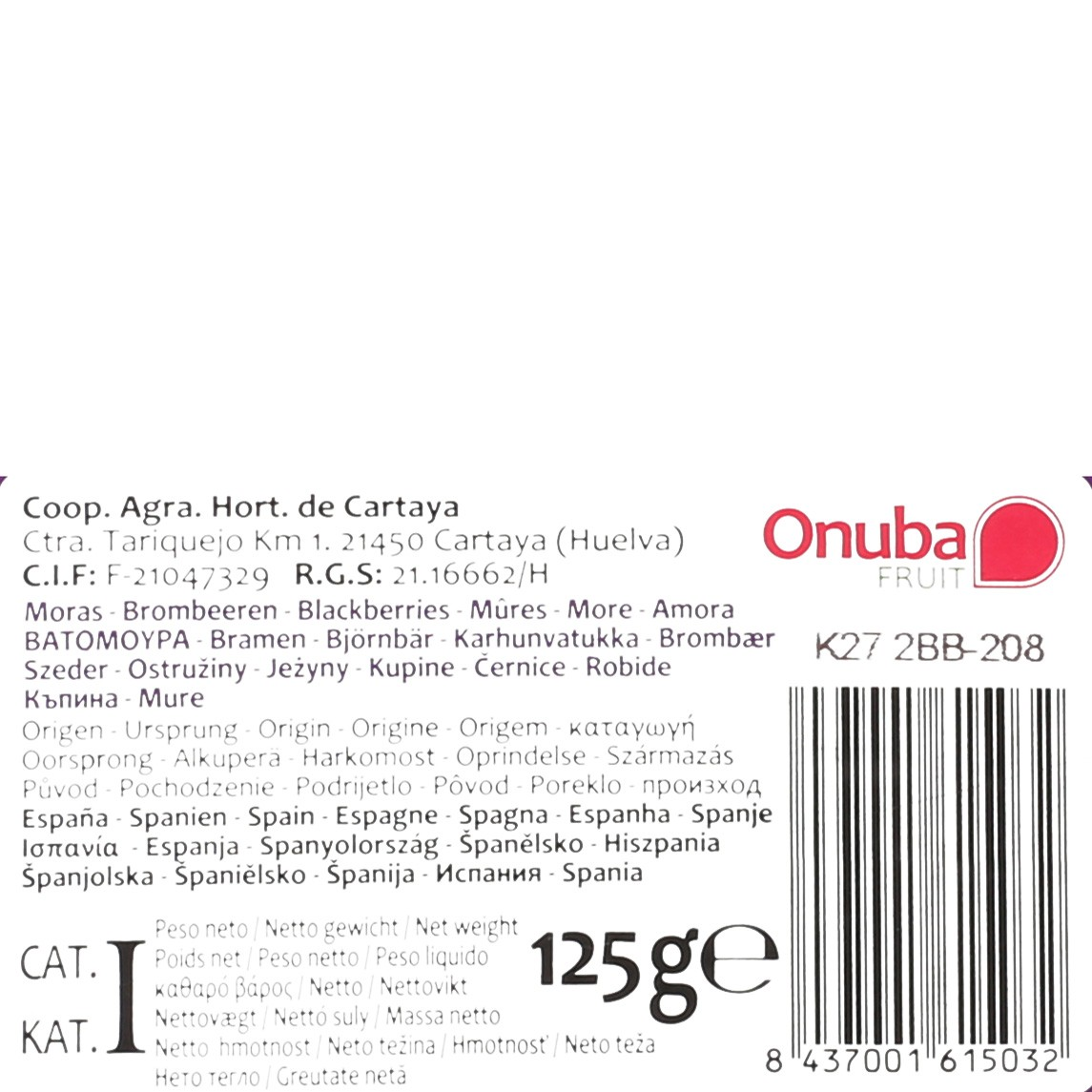 Moras Carrefour tarrina 125 g - 3