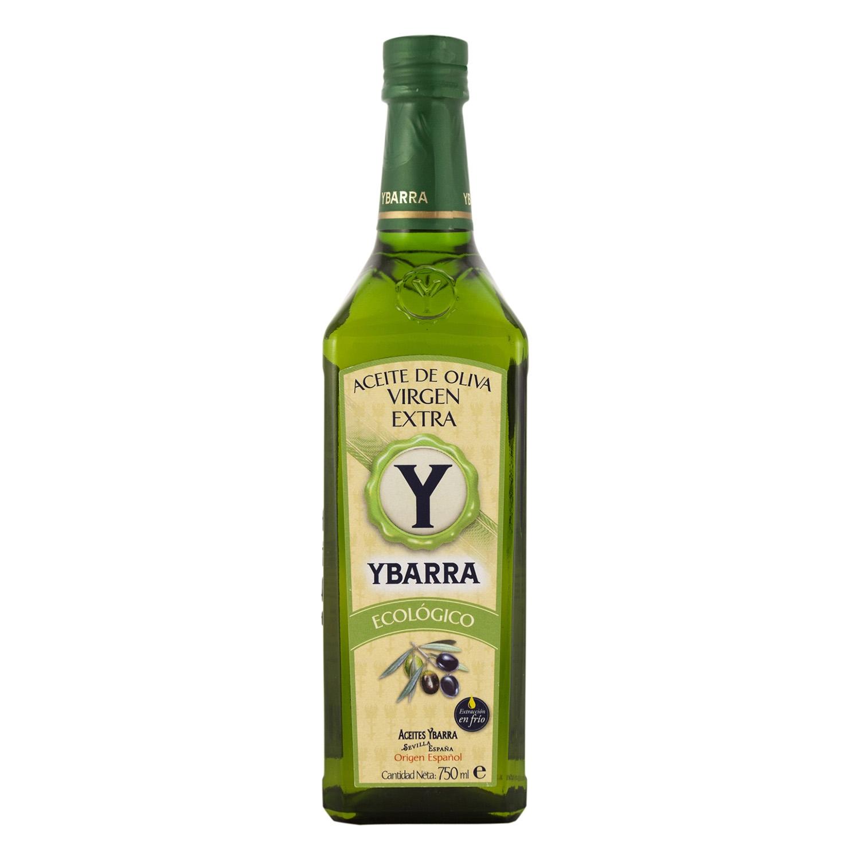 Aceite de oliva virgen extra ecológico Ybarra 750 ml.