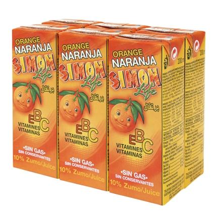 Zumo de naranja Simon Life pack de 6 briks de 20 cl.