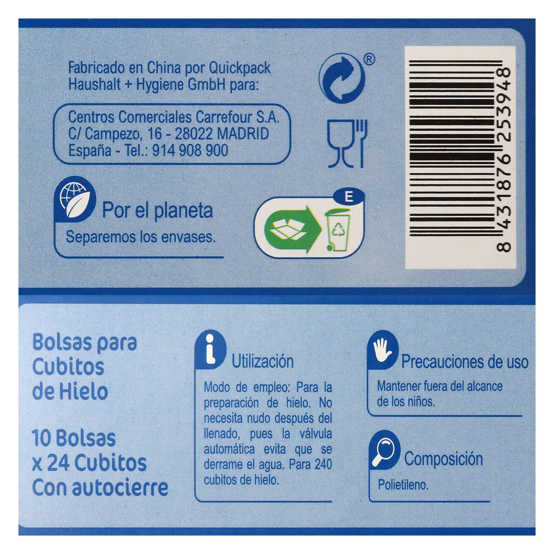Bolsas para cubitos de hielo Carrefour 10 ud. - 2
