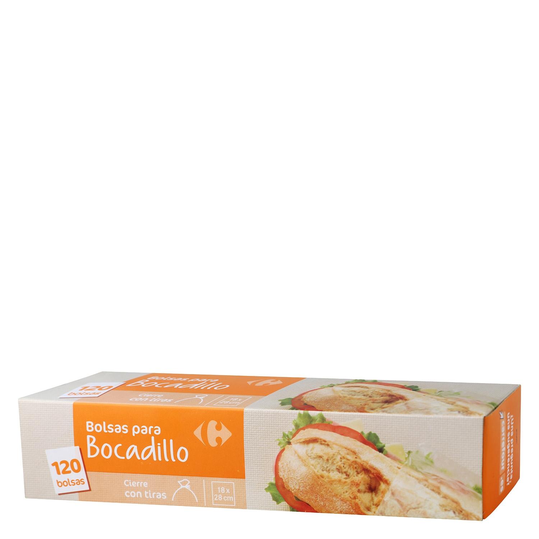 Bolsas para bocadillos Carrefour 120 ud.