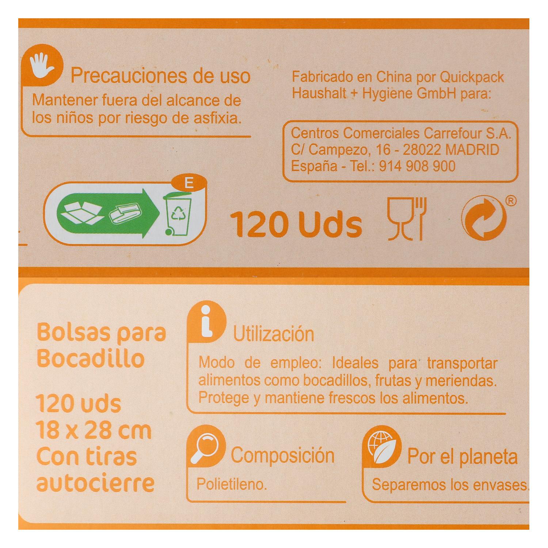 Bolsas para bocadillos Carrefour 120 ud. - 2