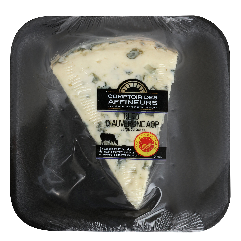 Queso azul d'Auvergne D.O.P. leche past. vaca Comptoir des Affineurs cuña 150 g  - 2