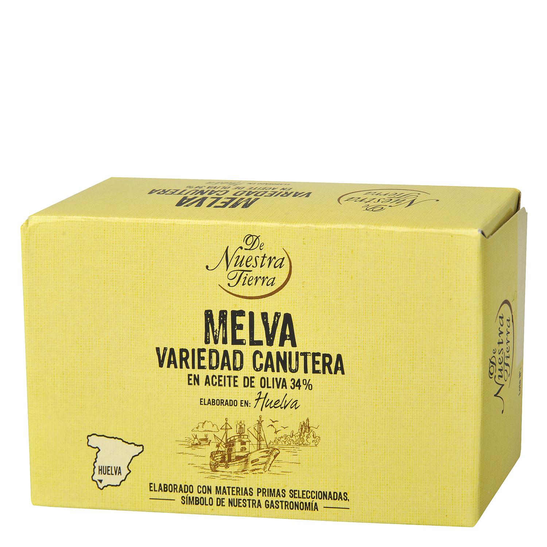 Filetes de melva en aceite de oliva De Nuestra Tierra 78 g.