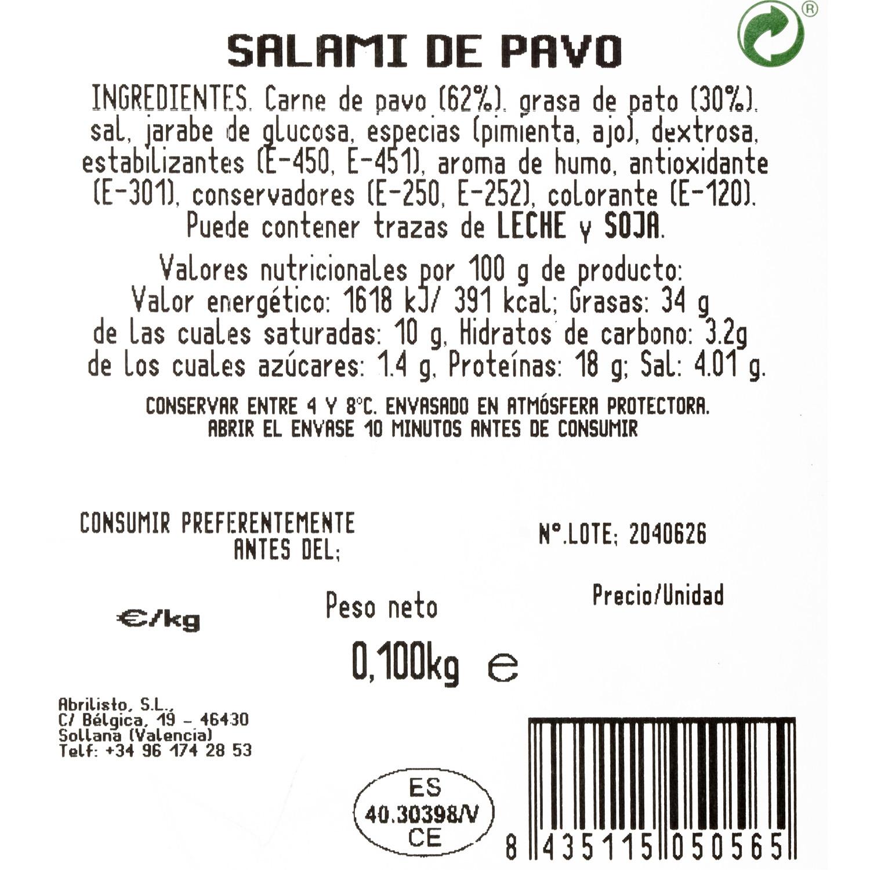 Salami de pavo loncheado Juan Luna 100 g - 3