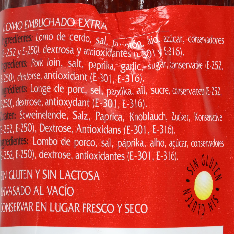 Caña de lomo curada raza Duroc La Hoguera pieza 800 g aprox - 2