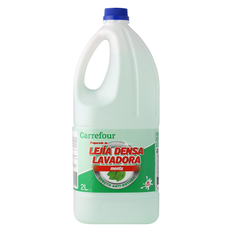 Lejía densoactiva perfume menta Carrefour 2 l.